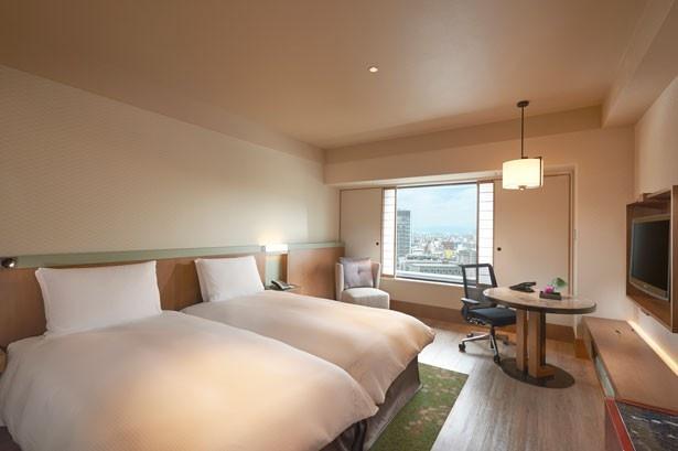 ホテルステイがぐっと楽しくなる空間に生まれ変わった。おだやかな二人の時間にぴったりのツインルーム