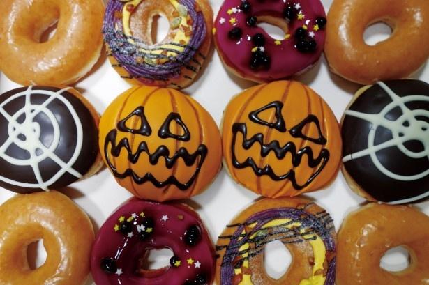 ポップなドーナツが勢揃いする「ハロウィン ダズン」(2000円)。あなたはどれを選ぶ?
