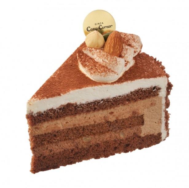 チョコレートと相性の良いへーゼルナッツを組み合わせた「ノワゼットショコラ」(432円)