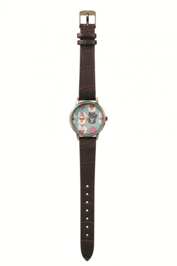 【写真を見る】招きネコに扮したニャンコ先生と黒ニャンコをデザインした「B賞 乙女腕時計(全1種)」