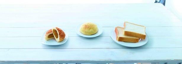 「ピュアブレッド」(写真右)は、希少な北海道産小麦「春よ恋」を使った食パン。噛めば噛むほど、素材の旨味を感じられる