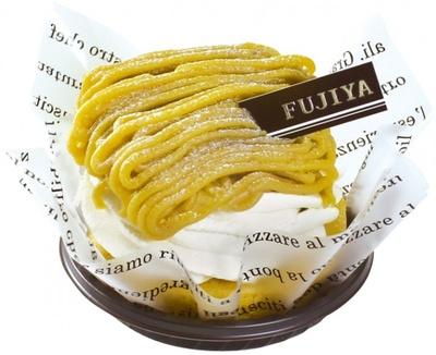 イタリア栗を使った濃厚でなめらかなマロンペーストを使用している「イタリアマロンのモンブラン」(345円)