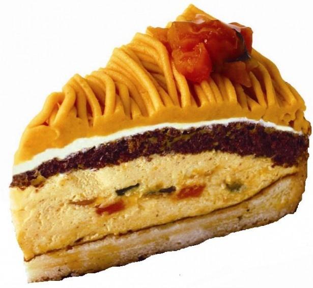 「北海道えびすかぼちゃのケーキ」(345円)はえびすカボチャをクリームやムースにふんだんに使用している