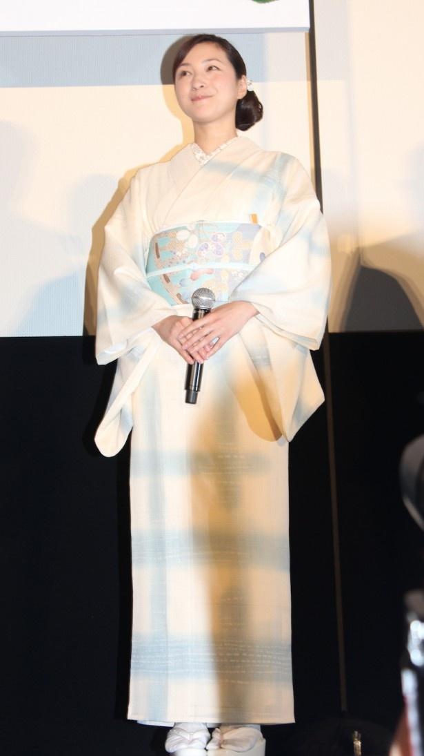【写真を見る】艶やかな着物姿で登場した広末涼子