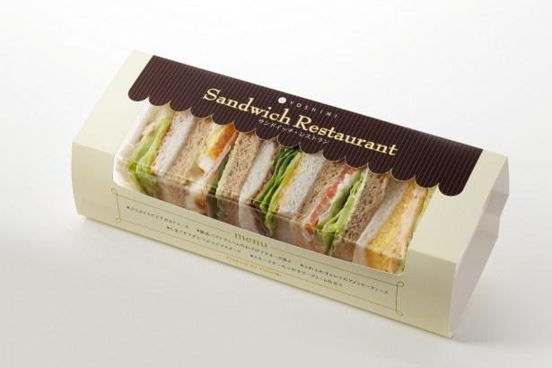 新千歳空港で2位を獲得したYOSHIMIの「サンドイッチレストラン」。レストランの味と素材にこだわって作ったプレミアムなサンドイッチ。5種類の味を楽しめる