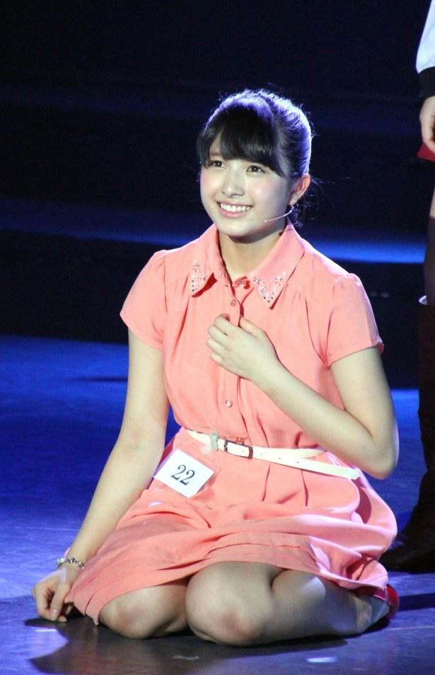 見事、AKB48のオーディションに合格した寛子