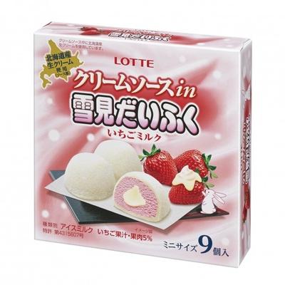 まろやかなクリームソースとさっぱりとしたアイスの相性がぴったり!世代を超えて愛されるイチゴミルク味の「クリームソース in 雪見だいふく いちごミルク」