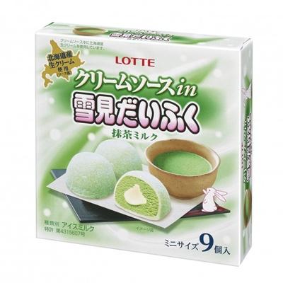風味豊かな抹茶アイスとクリームソースのバランスが絶妙な「クリームソース in 雪見だいふく 抹茶ミルク」