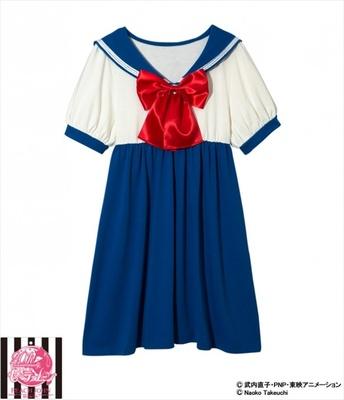 水野亜美(十番中学校)のセーラームーンなりきり制服ワンピ