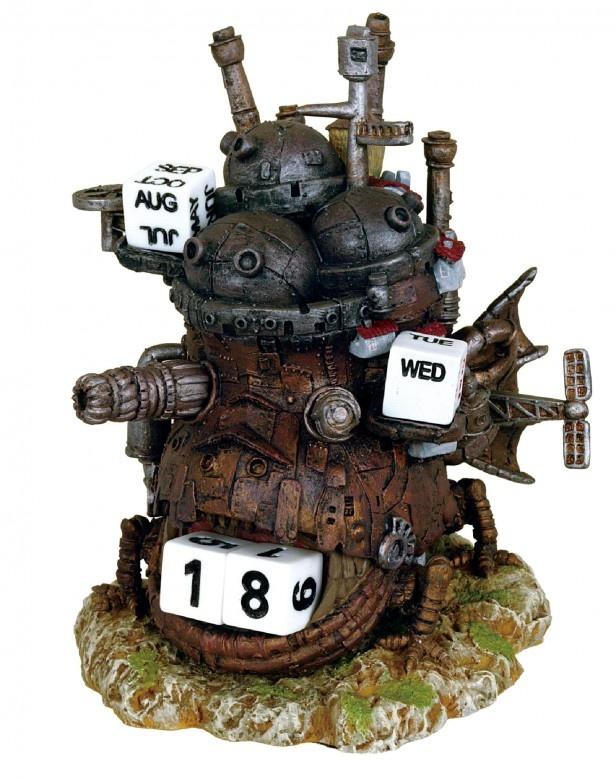 コマを動かして日付を変えるカレンダー「万年カレンダー ハウルの動く城」(税別3800円)