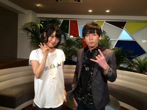 9月12日(金)放送の「めざましテレビ」内のGeroがMCを務めるトークコーナー「ミドリgaマドグチ」に登場する、みみめめMIMIのボーカル・タカオユキ(左)