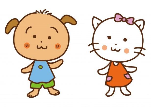 """【写真を見る】人気マンガ家・さくらももこがデザインしたキャラクター""""ぽちのすけ""""と""""にゃーにゃん"""""""