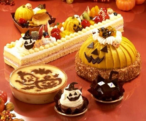 仮装したカボチャや黒猫、おばけがとってもキュートなケーキがいっぱい!