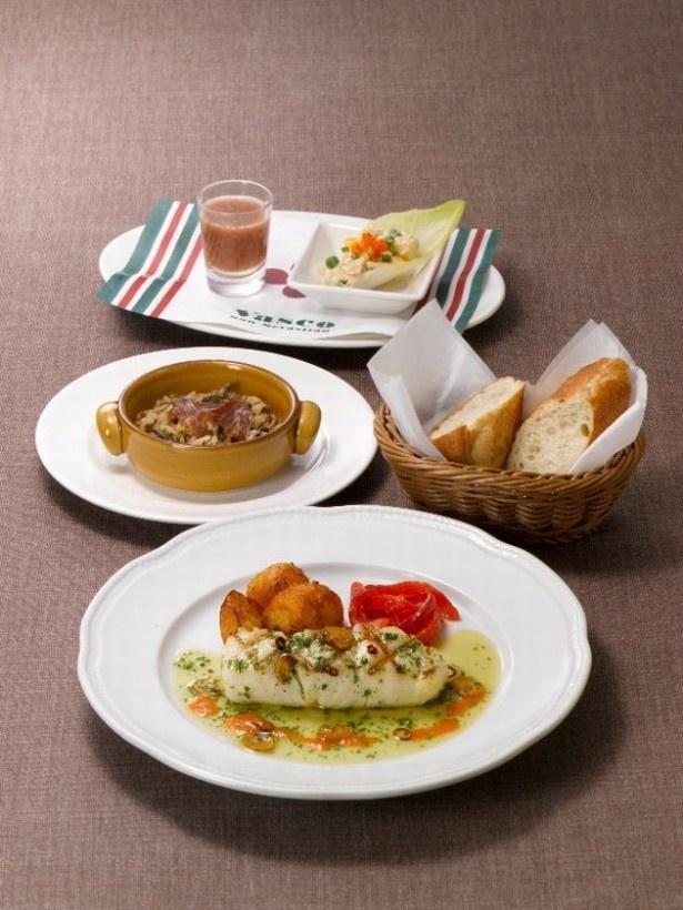 「美食の街から スペイン・バスク料理フェア」の料理。商品開発担当者たちが現地まで行ってレシピを学んだメニューがずらり!