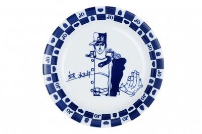 D賞「お皿」。承太郎のイラストがデザインされた皿。約21cm