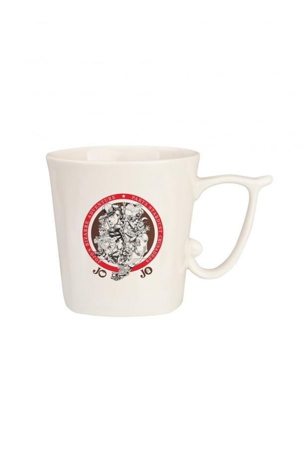 E賞「コーヒーカップ」(全2種)。第3部のメインキャラクター達をデザイン。全高約8cm