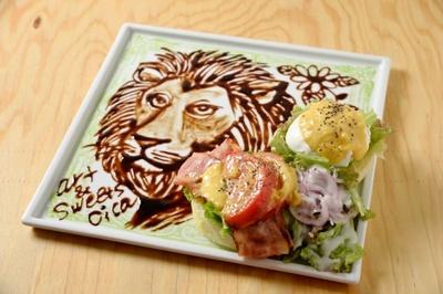 「Art&Sweets cica(シカ)」のアートエッグベネディクト(B.L.T)¥1050