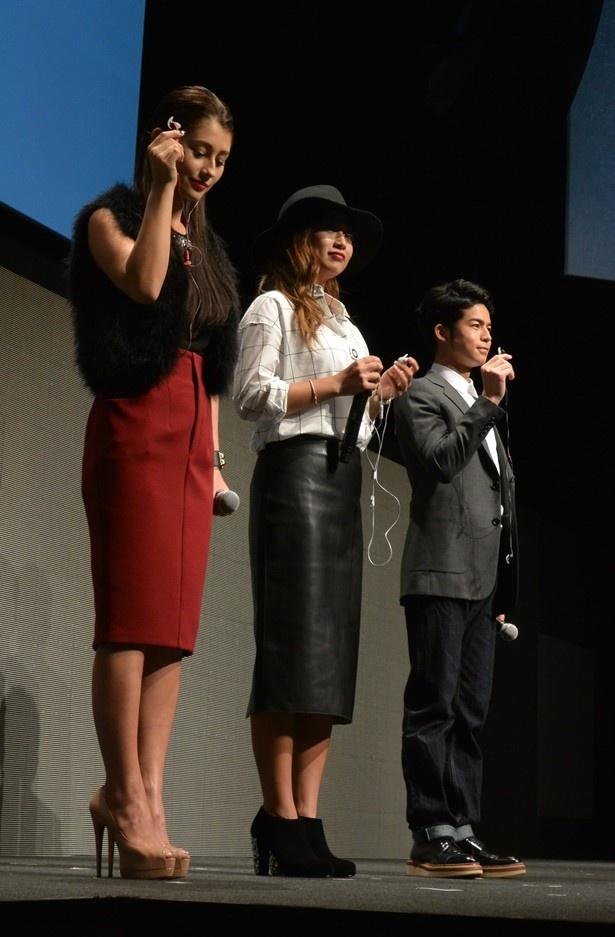 【画像を見る】ダレノガレ明美、今井華、菅谷哲也らがBOSE新製品イベントに登場し、製品をPR