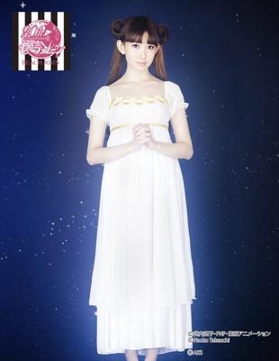 プリンセスセレニティをイメージしたネグリジェ、セーラームーンなりきりドレス