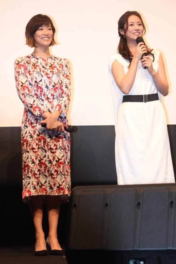 【写真を見る】水川あさみ、木村文乃は小粋なワンピースで登壇