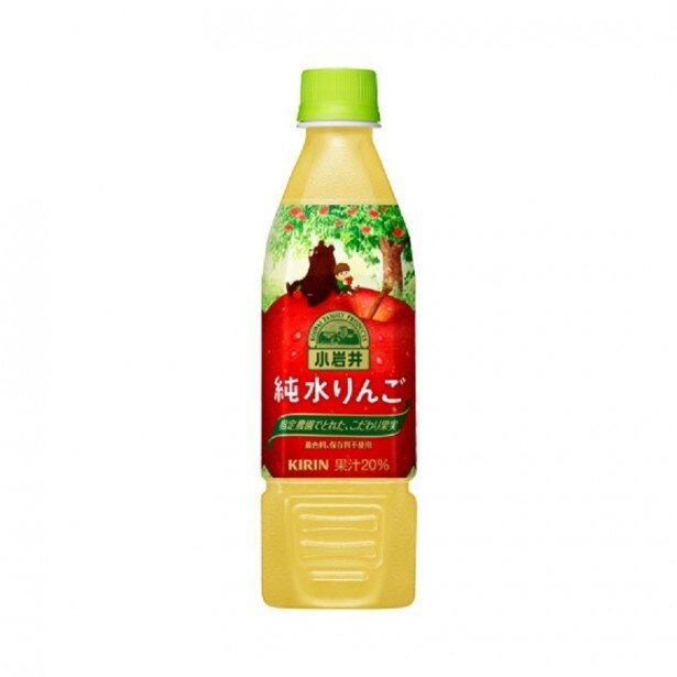 【写真を見る】果汁20%使用、リンゴの芳醇な香りとやさしい甘さを感じられる「小岩井 純水りんご」(ペットボトル)(470ml 希望小売価格・税別140円)