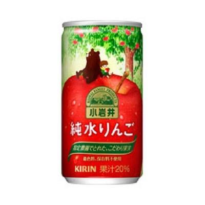 「小岩井 純水りんご」(缶)(185g 希望小売価格・税別80円)