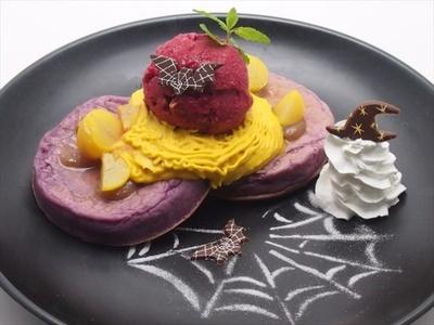 Sunset Cafeの「2 種類のスクリームと紫芋のクランペット 秋の味覚のハーモニー」