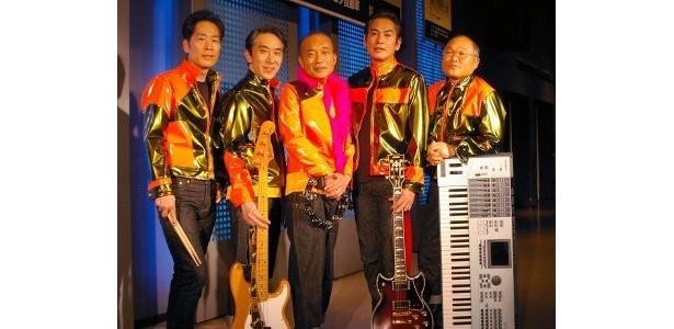 「シーラカンズ」左から・稲垣潤一、段田安則、竹中直人、宅麻伸、斉藤暁