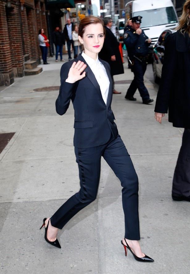 9位エマ・ワトソンのマニッシュスタイルが素敵