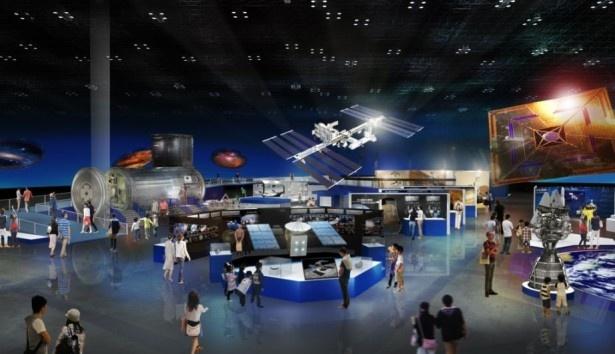 「JAXA・日本の宇宙開発エリア」会場イメージ図
