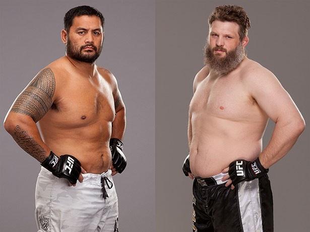 「UFC JAPAN 2014」のメーンカードはヘビー級バトル!マークハント(写真左)vsロイ・ネルソン(写真右)だ