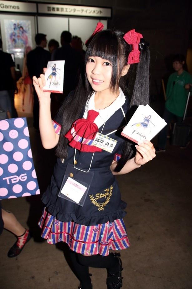 Fuji&gumi Gamesのコンパニオンはでんぱ組.incも所属するディアステージで活躍する現役アイドル・飴涙める