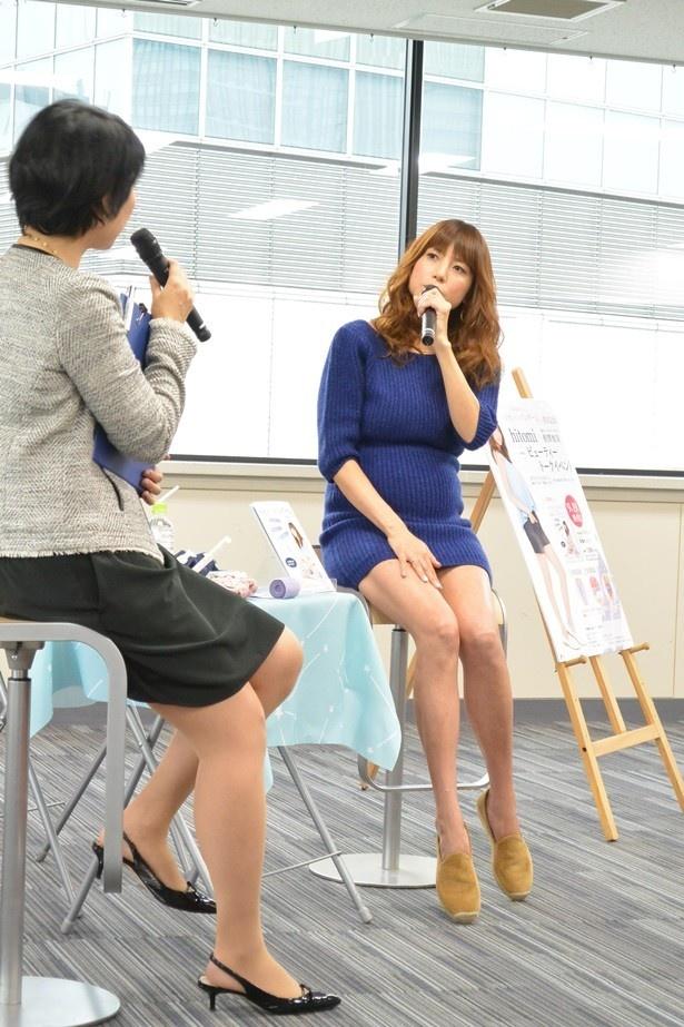 hitomiは1人目の妊娠時より今の方が気持ちにも余裕があると話す