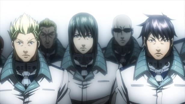 テラフォーマーと戦うアネックス1号の乗組員たち