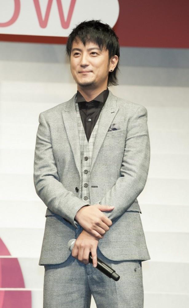 ホテルの専務取締役を演じた上地。劇中では大倉よりもさらにドSキャラを演じ「ドS発言、気持ち良かったです」と芝居の感想を