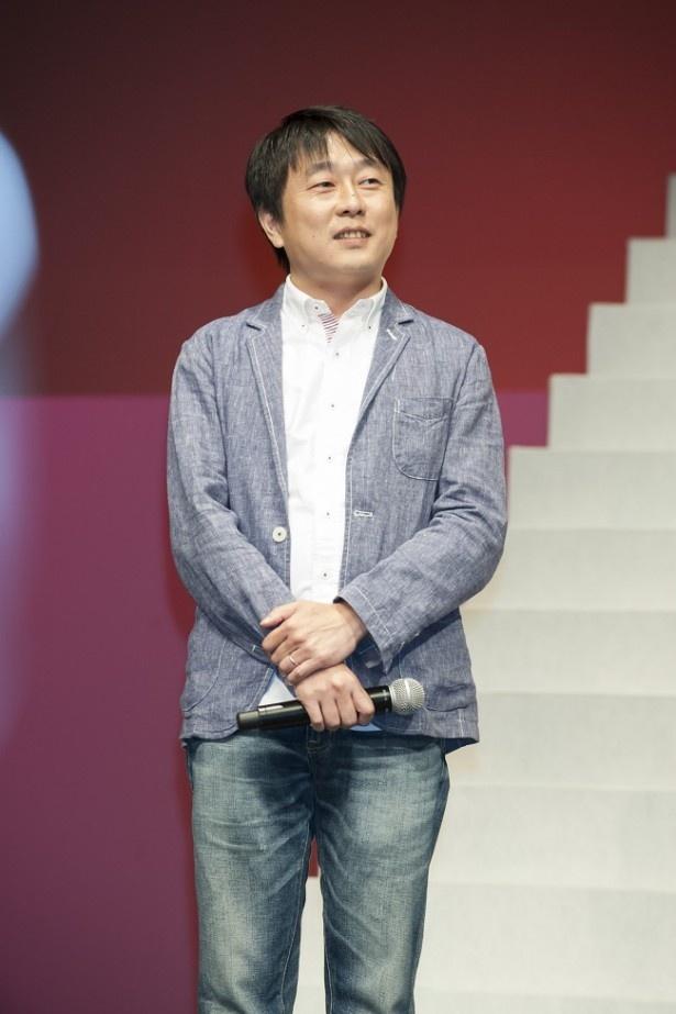 「ラブコメが好きです」と語った古沢健監督。武井からは「オトメな監督!」と紹介され苦笑