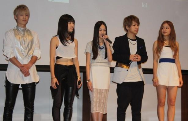 主題歌「HEARTBEAT」を歌う5人組lol(エルオーエル)は会見当日が初お披露目!