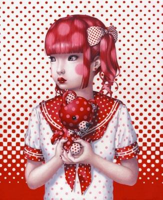 トレヴァー・ブラウン「polkadot disease」 2014年 油彩、キャンバス 650×530mm