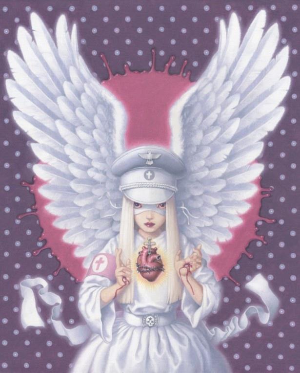 トレヴァー・ブラウン「sacred heart」 油彩、キャンバス 650×530mm
