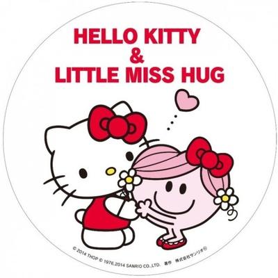 10月15日(水)にサンリオショップ、サンリオコーナーで買い物をするともらえる「HELLO KITTY&LITTLE MISS HUG」BIGステッカー