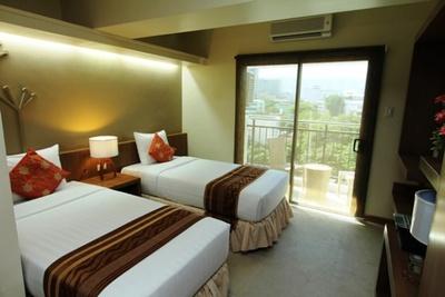 「MBA」は、ホテルの最上階に滞在できる。部屋からの見晴らしも抜群!