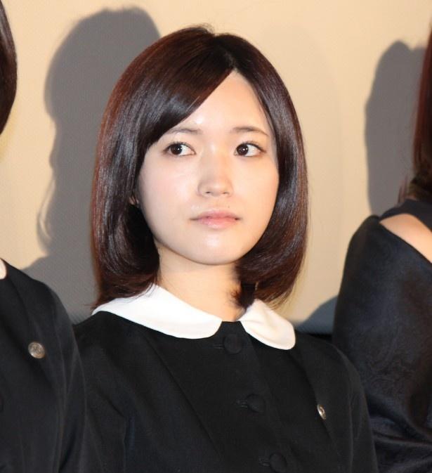 『劇場版 零 ゼロ』の公開記念舞台挨拶に登場したときの、美山加恋。