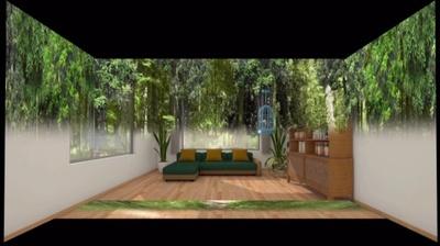 「DREAM CORE」内にあるプロジェクションマッピングでは、部屋が森林の中にあるような感覚になる場面も