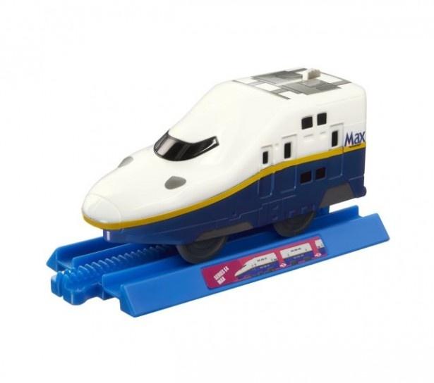 「E4系新幹線Max」もレールの上で発車できる 「E4系新幹線Max」もレールの上で発車できる