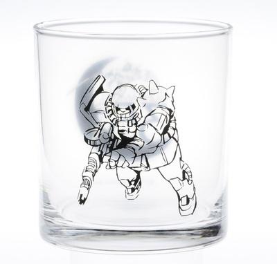 出撃するザクが描かれたグラス