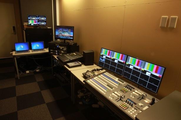 映像配信機材や音響機材も利用できる