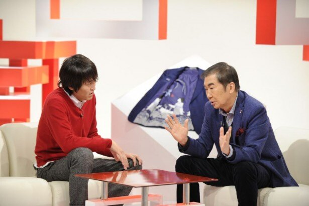 「千原ジュニアのシュッとしょ!」に出演する桂文枝(写真右)とナビゲーターの千原ジュニア(写真左)