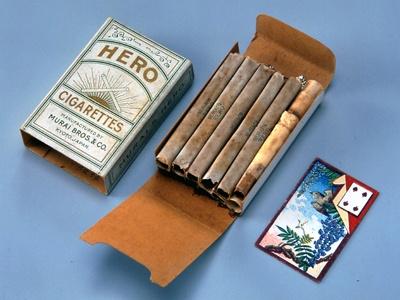 「ヒーロー」たばこカード入り。「おまけ」の最先端!