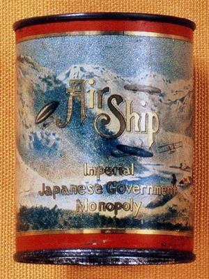 絵柄のようなデザインが魅力の「エアーシップ」は明治から大正にかけてのたばこ