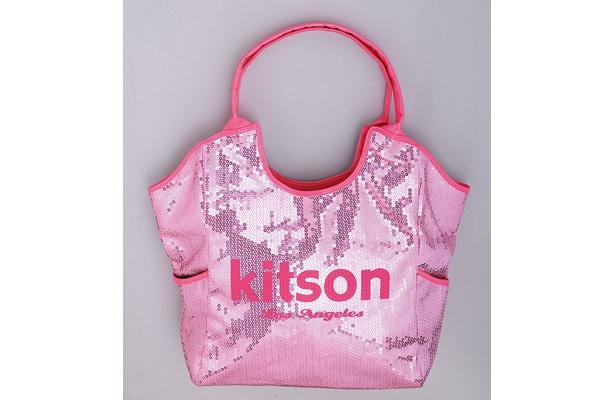 一番人気のロゴバック「kitsonスパンコールトートバッグ」(9975円)